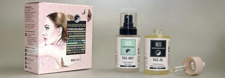 Natürliches Gesichtsölset Streicheleinheit für reine, gesunde Gesichtshaut.
