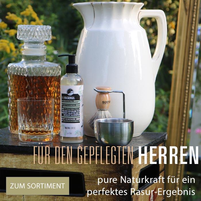 Inizio Naturpflege Produkte Mann Bartöl Aftershave Gesichtspflege Männersache